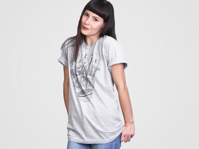 unisex tričko Instant Karma Heather Grey